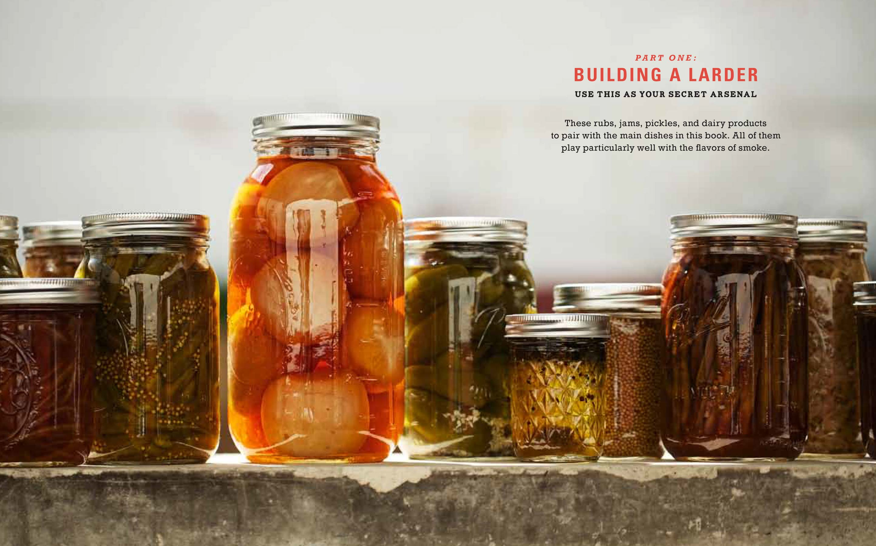 Jody Horton Photography - Various jars of pickles, jams, and rubs used by Chef Tim Byers.