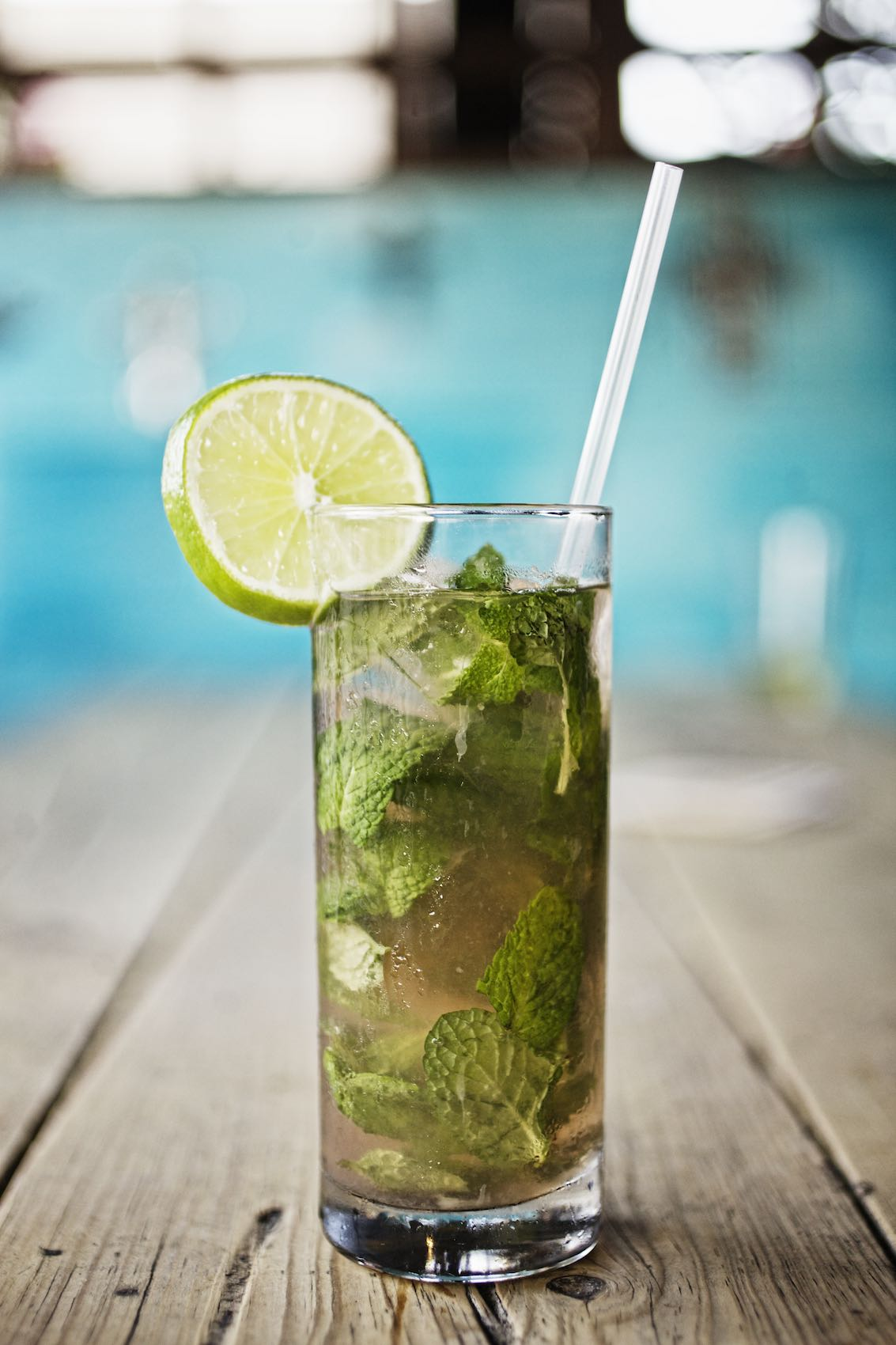 Jody Horton Photography - Mojito on a wood table.