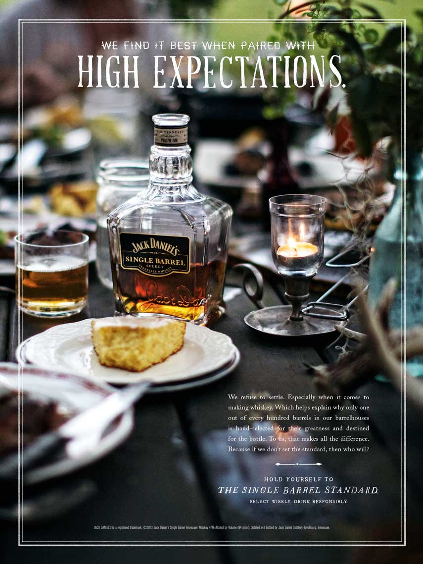 Jody Horton Photography for Jack Daniels, Dinner Scene