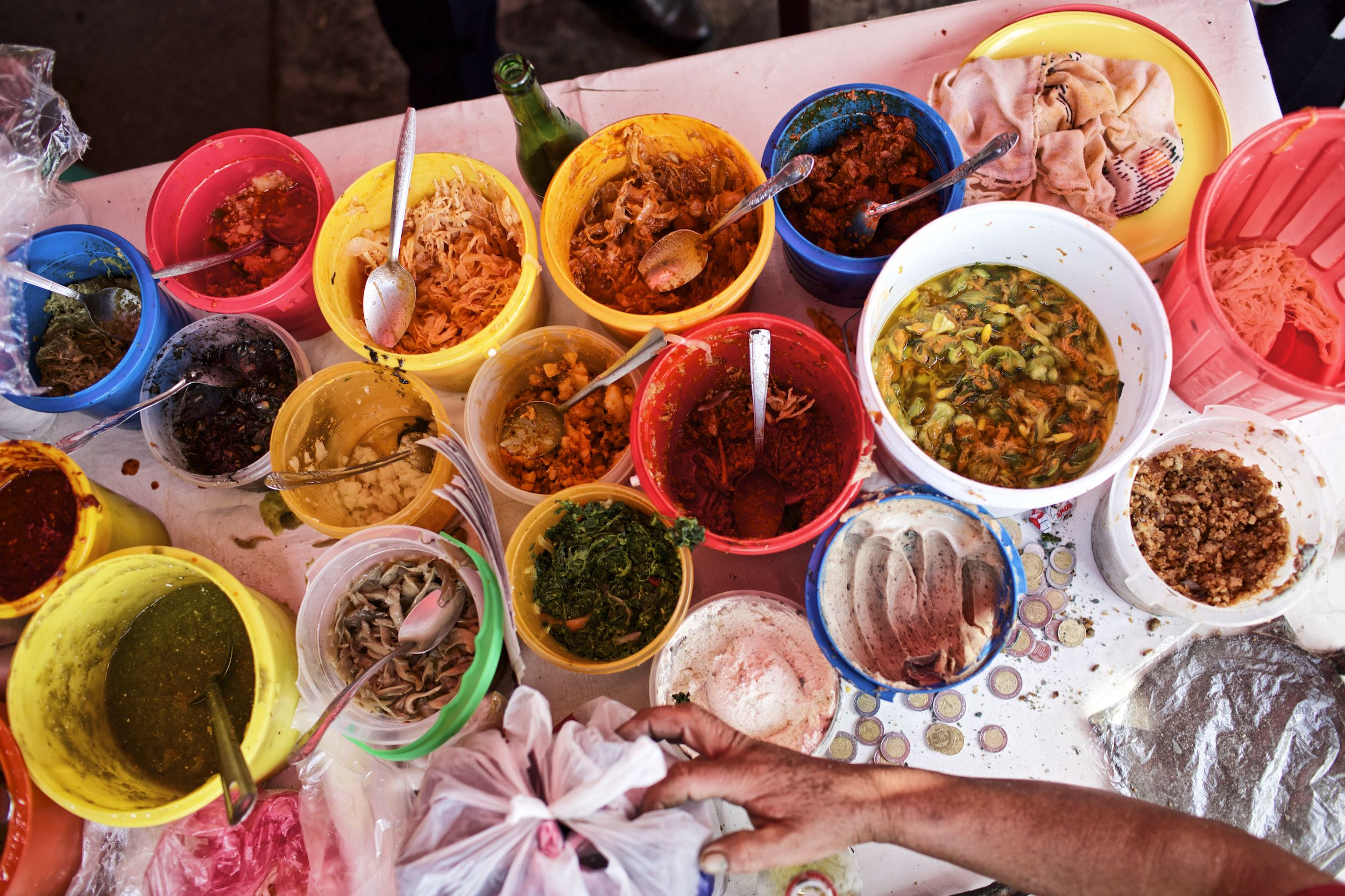 Jody Horton Photography - Cooking ingredients for street food in Mexico City.