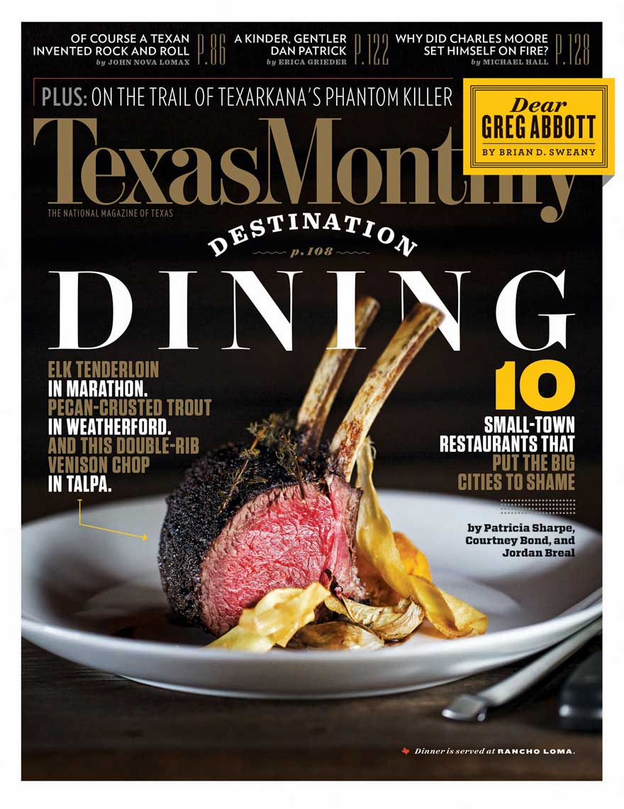Jody Horton Photography for Texas Monthly Cover Food Photography