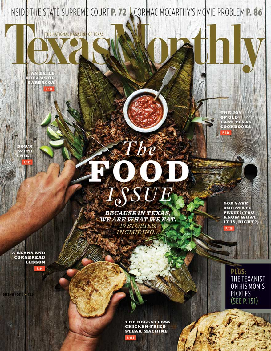 Jody Horton Photography for Texas Monthly Cover Food