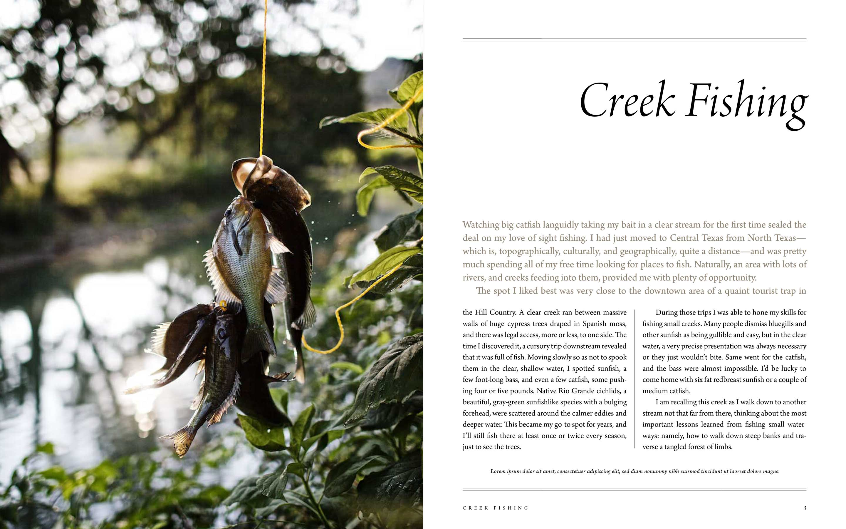 "Jody Horton Photography - Editorial ""Creek Fishing"" in Afield."