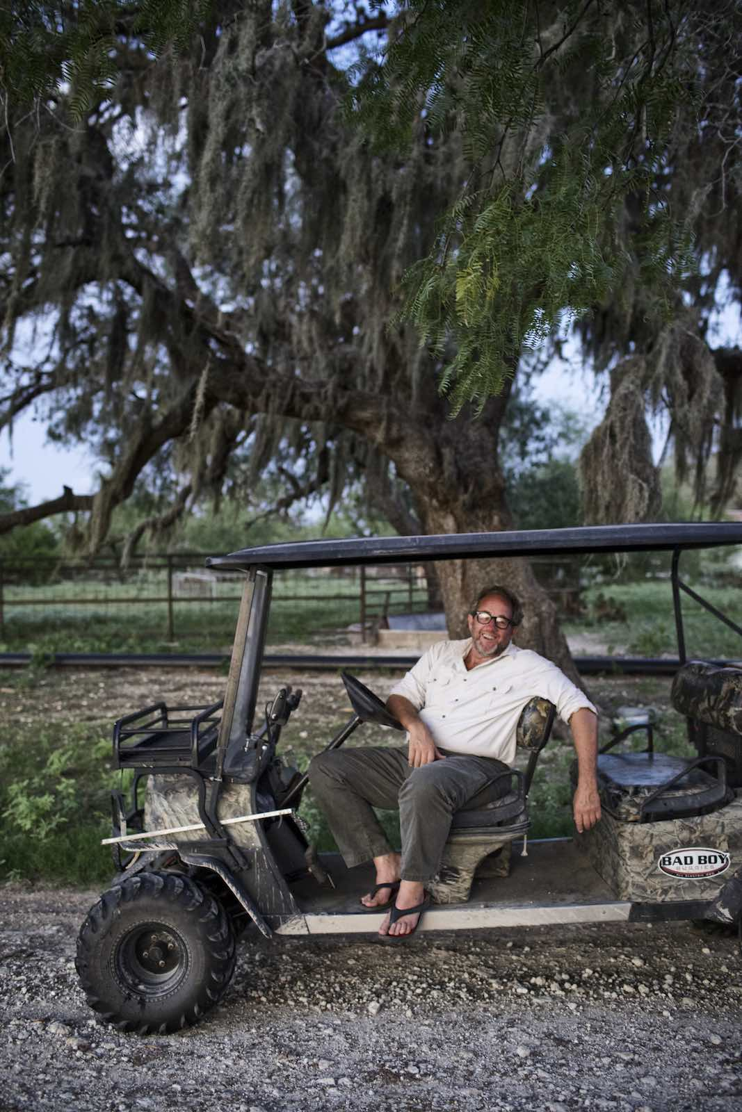 Jody Horton Photography - Chef riding in golf cart.