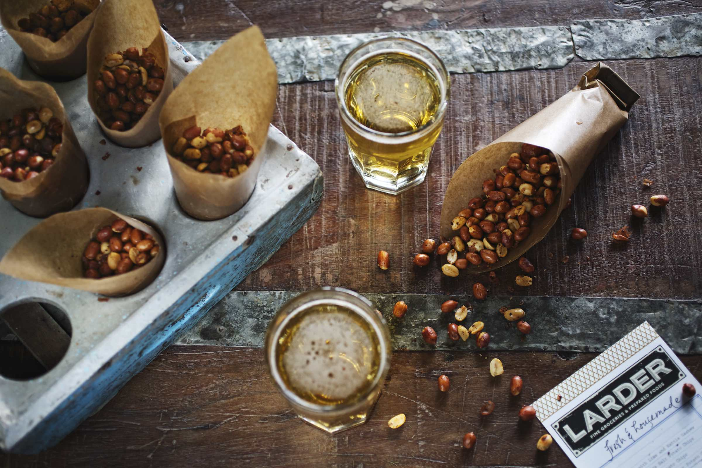 Jody Horton Photography - Roasted peanut snack bags and pale ales.