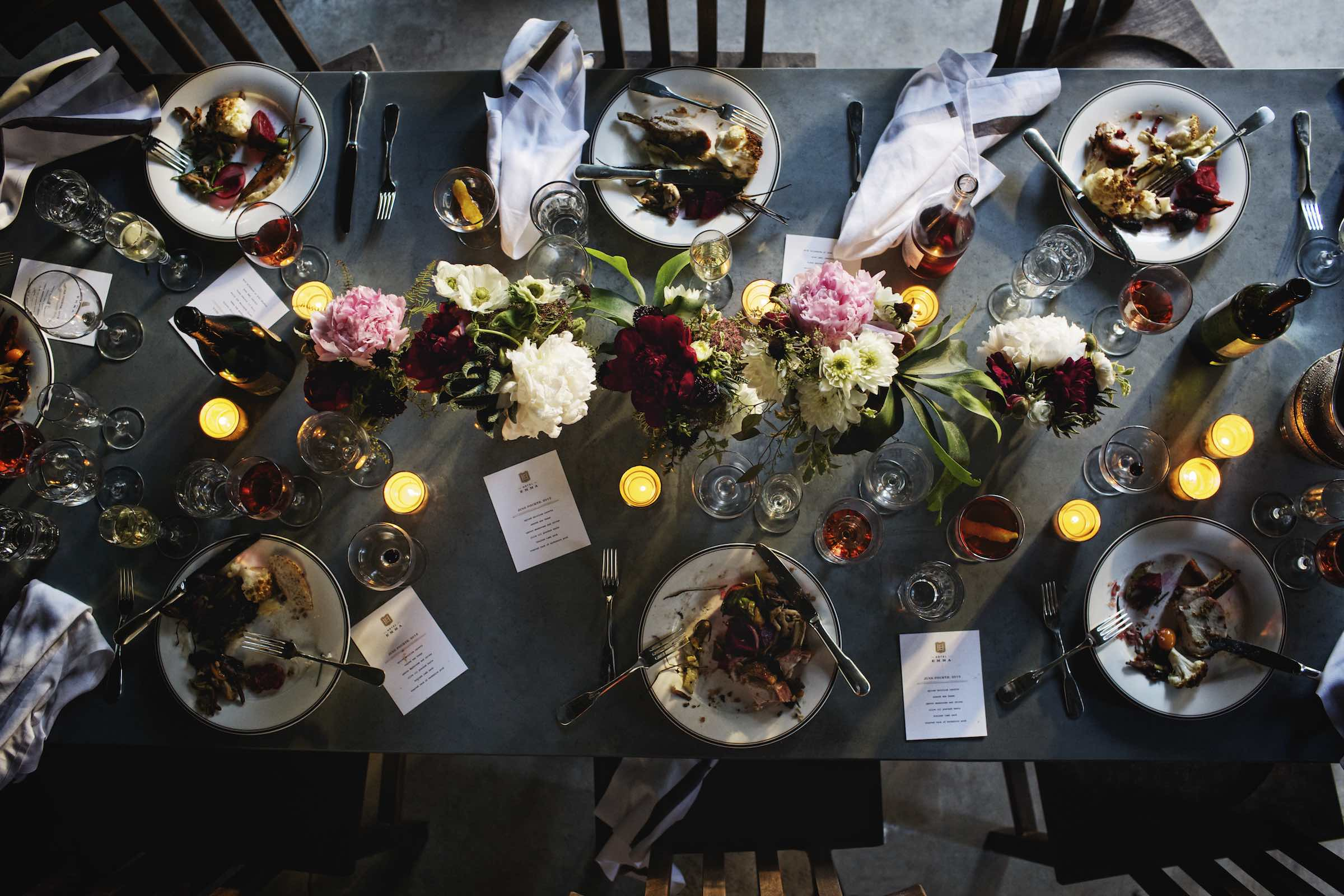 Jody Horton Photography - Unsupervised dinner spread on a stone table.