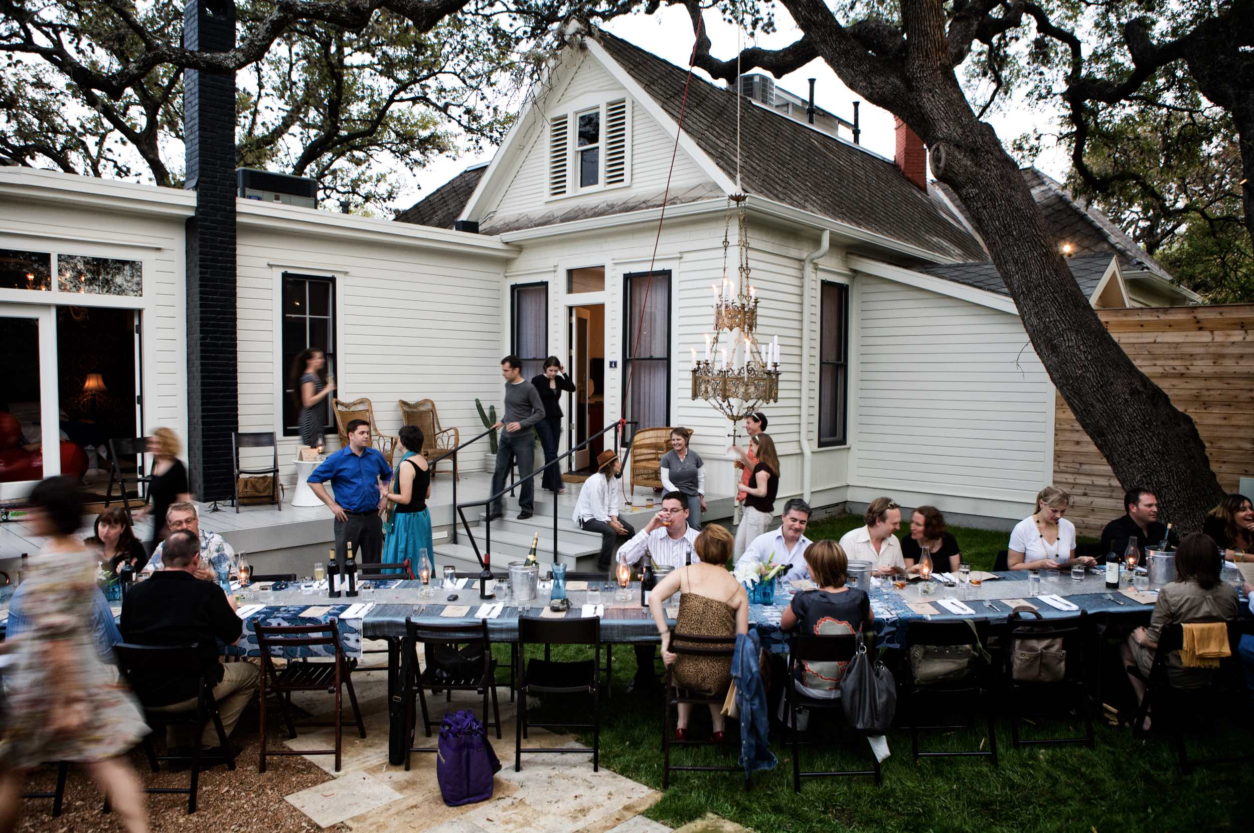 Jody Horton Photography - Outdoor dinner at Lenoir in Austin, TX.