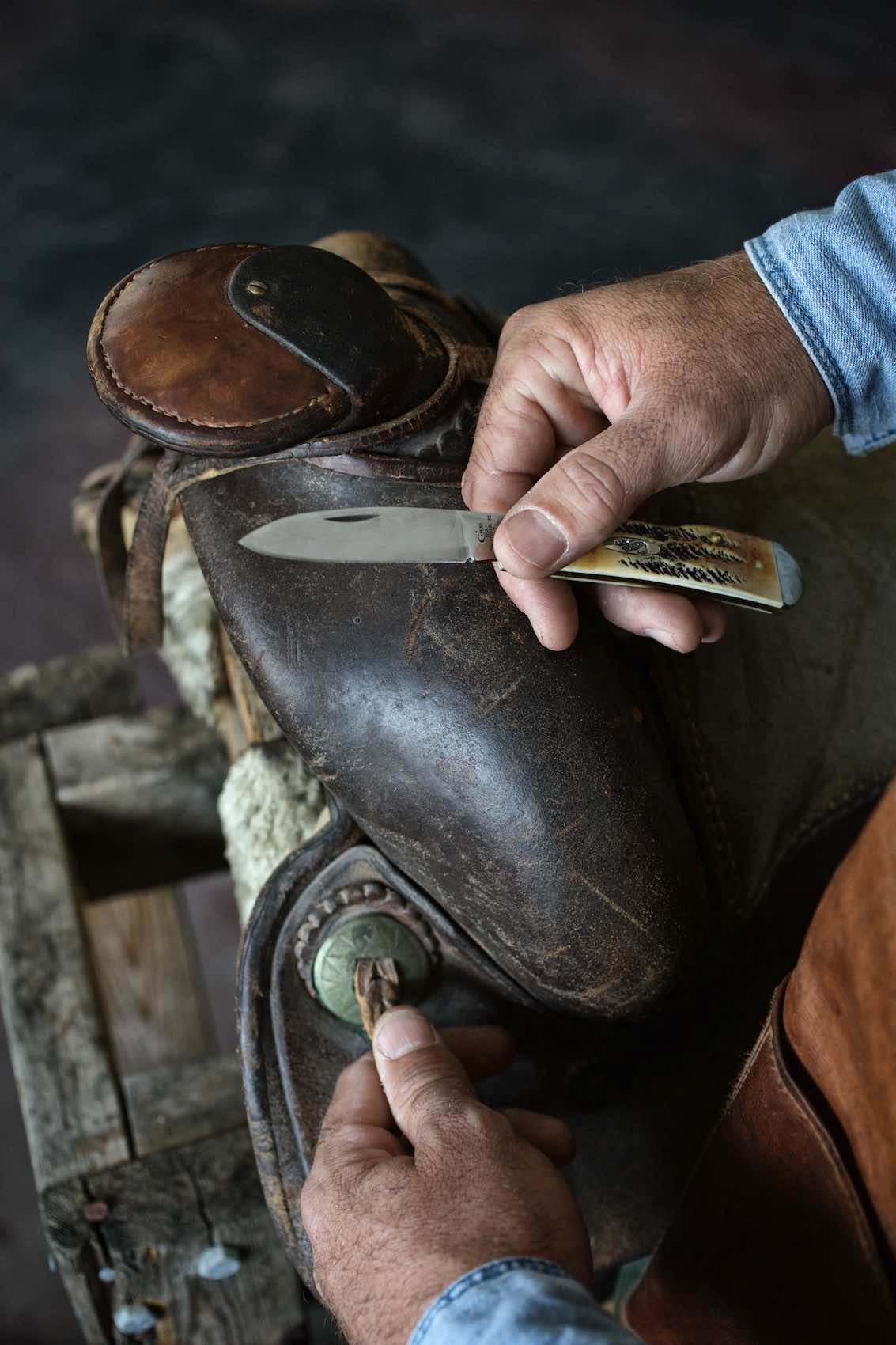 Jody Horton Photography - Western saddle and pocket knife, shot for Case Knives.