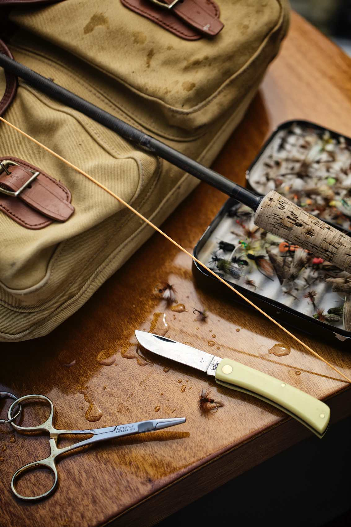 Jody Horton Photography - Fishing gear and pocket knife shot for Case Knives.