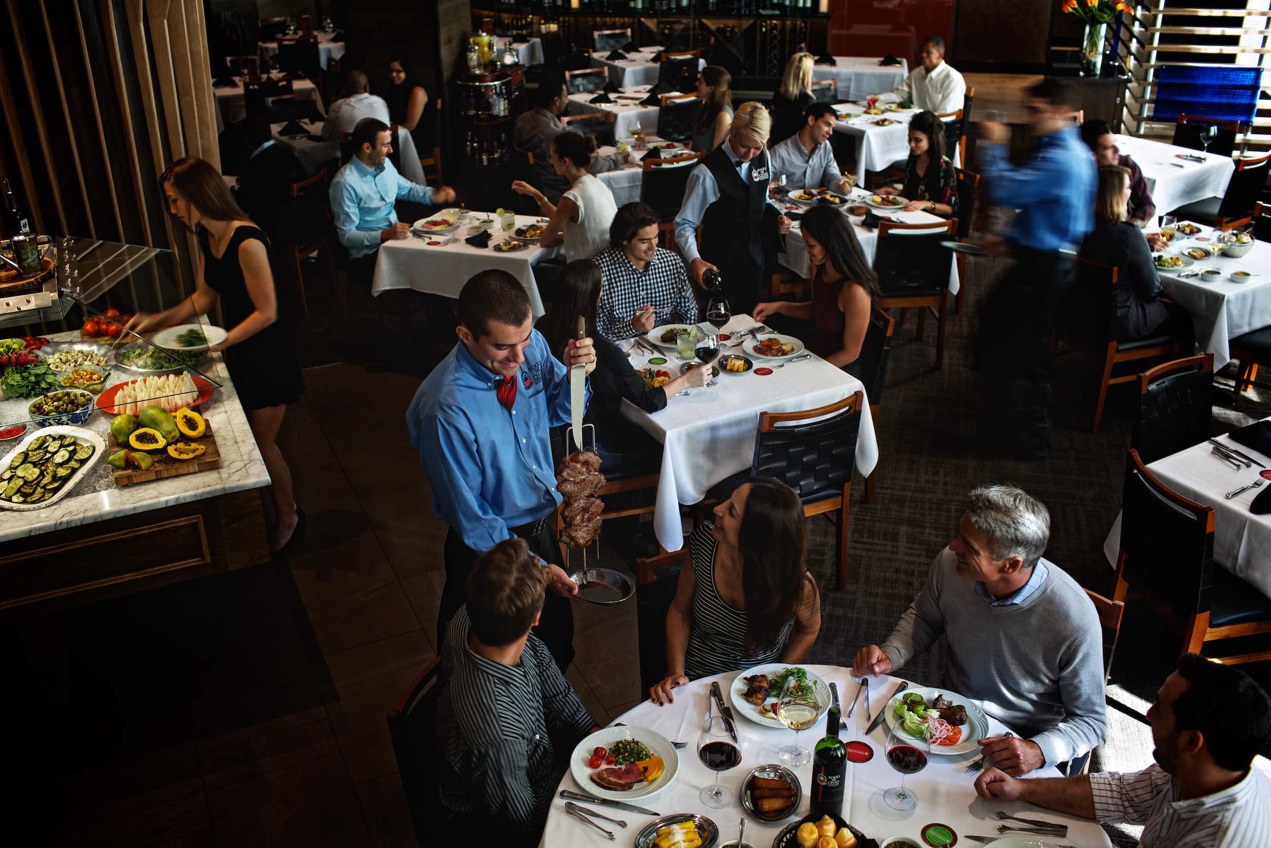Jody Horton Photography - Guests dining at Fogo De Chao.