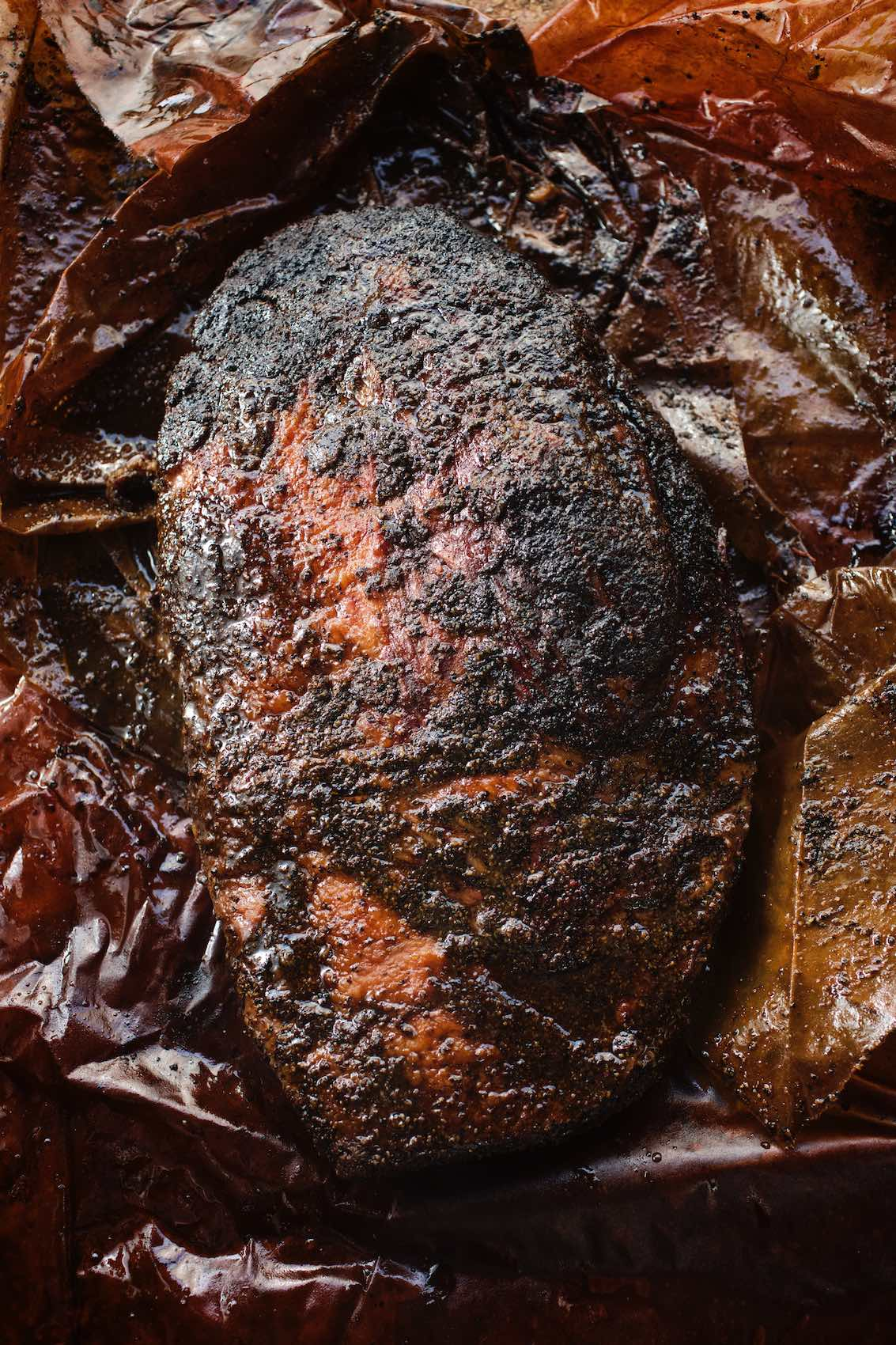 Jody Horton Photography - Smoked meat in parchment paper.
