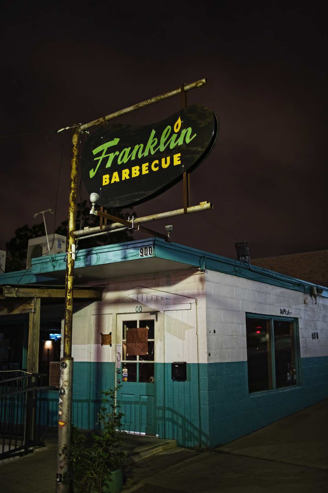 Jody Horton Photography - Franklin Barbecue storefront in Austin, TX.