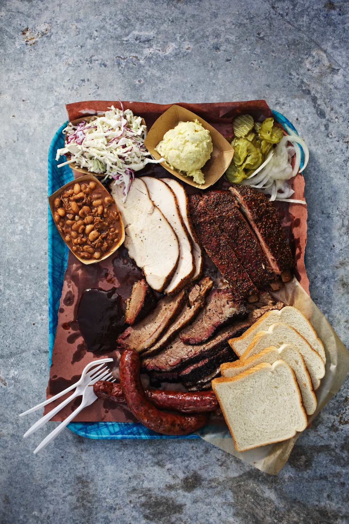 Jody Horton Photography - Barbecue plate for Franklin Barbecue.